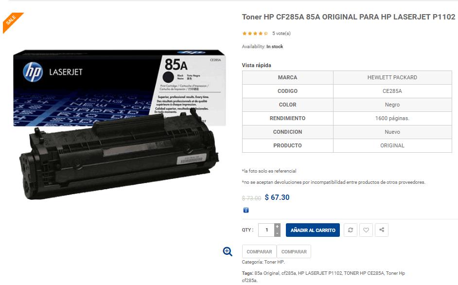 toner-hp-85a-precio