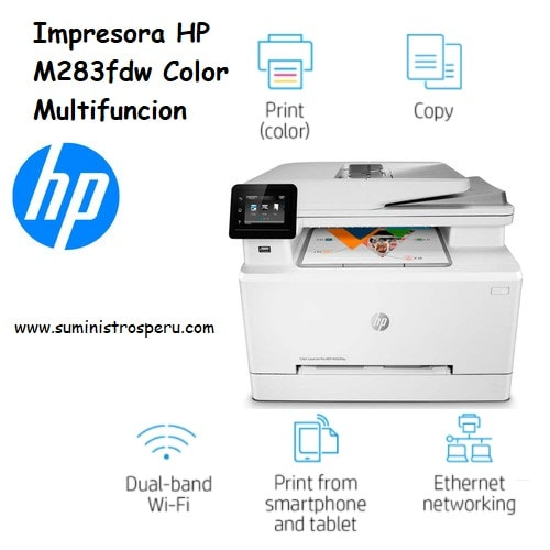Impresora HP M283fdw Color Multifuncion